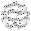 Musical Note Plates - Rock and Roll Party Theme