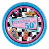 Beistle Fabulous 50's Plates (Pack of 96) - Rock and Roll Party Theme