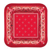 Bandana Plates - Western Party Decorations