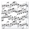 Musical Note Luncheon Napkins - Rock and Roll Party Theme