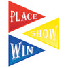 Beistle Win, Place & Show Cutouts (12 packs) - Derby Day Party Theme