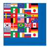 International Flag Beverage Napkins ->
