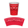 Bandana Beverage Cups - Western Party Decorations