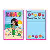 Baby Shower Party Supplies: Hula Baby Thank You Notes