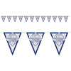 Beistle Retired Now The Fun Begins! Pennant Bnr (Pack of 12) - Retirement Party Supplies