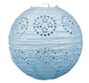 Lace Paper Lanterns Light blue, 8 inch,, party supplies, decorations, The Beistle Company, General Occasion, Bulk, General Party Decorations, Paper Lanterns