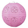 Lace Paper Lanterns Pink, 8 inch,, party supplies, decorations, The Beistle Company, General Occasion, Bulk, General Party Decorations, Paper Lanterns