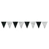 Black & Silver Pennant Banner