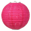 Lace Paper Lanterns Cerise, 8 inch, , party supplies, decorations, The Beistle Company, General Occasion, Bulk, General Party Decorations, Paper Lanterns