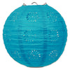 Lace Paper Lanterns Turquoise, 8 inch,, party supplies, decorations, The Beistle Company, General Occasion, Bulk, General Party Decorations, Paper Lanterns