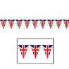 Union Jack Pennant Banner, party supplies, decorations, The Beistle Company, British, Bulk, Other Party Themes, Olympic Spirit - International Party Themes, British Themed Decorations