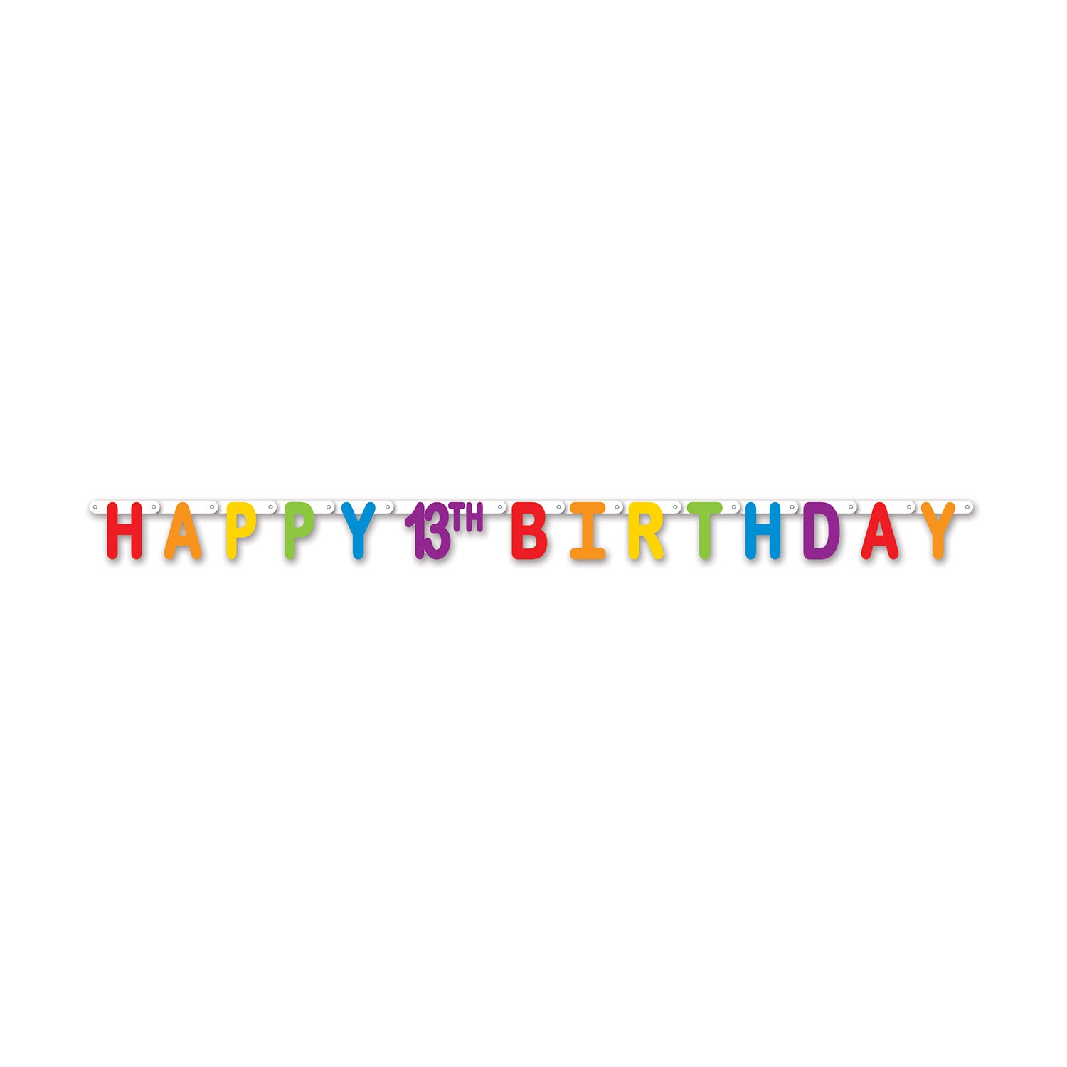Happy 13th Birthday Streamer Party Supplies Decorations The Beistle Company