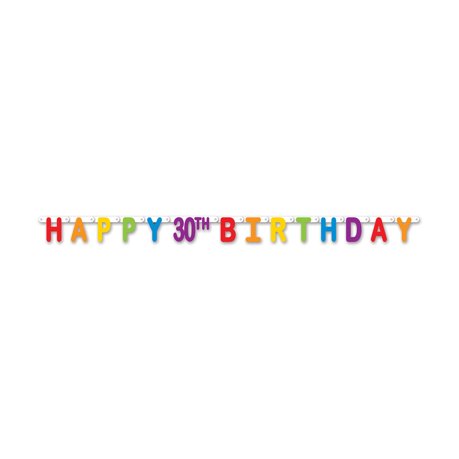 Happy 30th Birthday Streamer Party Supplies Decorations The Beistle Company