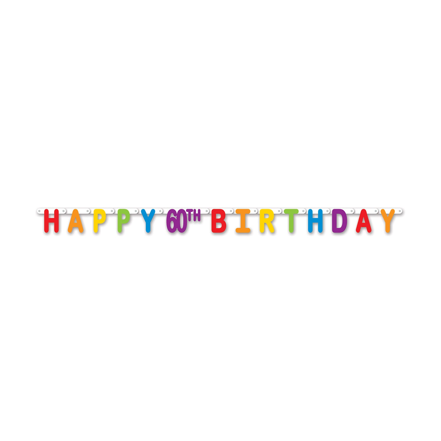 Happy 60th Birthday Streamer Party Supplies Decorations The Beistle Company