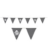 Pirate Fabric Pennant Banner, party supplies, decorations, The Beistle Company, Pirate, Bulk, Pirate Party Supplies, Pirate Party Decorations