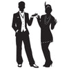 Great 20's Silhouettes, party supplies, decorations, The Beistle Company, Great 20's, Bulk, Other Party Themes, Roaring 20's Party Theme