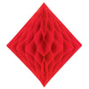 Tissue Diamond Red, party supplies, decorations, The Beistle Company, General Occasion, Bulk, General Party Decorations, Tissue Diamond