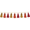Metallic Tassel Garland Gold/Orange/Red, party supplies, decorations, The Beistle Company, Fall/Thanksgiving, Bulk, Holiday Party Supplies, Thanksgiving Party Supplies, Thanksgiving Party Decorations