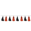 Beistle Metallic Tassel Garland (Pack of 12) - Halloween Party Decorations, Halloween Party Garland