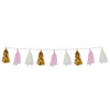 Metallic & Tissue Tassel Garland Pink, party supplies, decorations, The Beistle Company, Baby Shower, Bulk, Baby Shower Decorations, Baby Shower Decorations