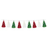 Metallic & Tissue Tassel Garland Red/White/Green, party supplies, decorations, The Beistle Company, Fiesta, Bulk, Holiday Party Supplies, Cinco de Mayo and Fiesta Party Supplies