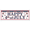 4th Of July Sign Banner, party supplies, decorations, The Beistle Company, Patriotic, Bulk, Holiday Party Supplies, 4th of July Political and Patriotic, 4th of July Party Decorations, 4th of July Signs/Banners