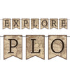 Beistle Explore Streamer (Pack of 12) - Around The World Party Theme