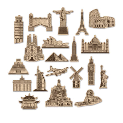Beistle Around The World Cutouts (12 packs) - Around The World Party Theme
