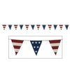 Americana Fabric Pennant Banner, party supplies, decorations, The Beistle Company, Patriotic, Bulk, Holiday Party Supplies, 4th of July Political and Patriotic, 4th of July Party Decorations, 4th of July Signs/Banners