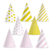 Pink & Gold Cone Hats, party supplies, decorations, The Beistle Company, Birthday, Bulk, Birthday Party Supplies, Birthday Party Hats And Stuff to Wear