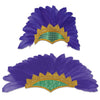 Feathered Showgirl Headpiece, party supplies, decorations, The Beistle Company, Mardi Gras, Bulk, Holiday Party Supplies, Mardi Gras Party Supplies, Mardi Gras Stuff to Wear, Mardi Gras Party Hats