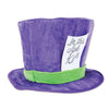 Plush Mad Hatter Hat, party supplies, decorations, The Beistle Company, Alice In Wonderland, Bulk, Other Party Themes, Alice in Wonderland