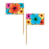 Hibiscus Picks - Miscellaneous Luau Party Decorations