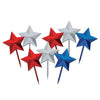 Star Picks, assorted red, silver, blue