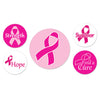 Pink Ribbon Buttons, assorted designs