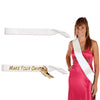 Party Accessories - Satin Sash - white