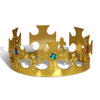 Plastic Jeweled King's Crown - gold