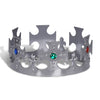 Plastic Jeweled King's Crown - silver