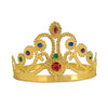 Plastic Jeweled Queen's Tiara - gold