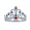 Plastic Jeweled Queen's Tiara - silver