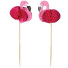 Beistle Flamingo Picks (12 packs) - Luau Party Accessories, Luau Party Supplies