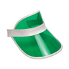 Casino Party Supplies Clear Green Plastic Dealer's Visor