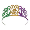 Glittered Metal Mardi Gras Tiara, party supplies, decorations, The Beistle Company, Mardi Gras, Bulk, Holiday Party Supplies, Mardi Gras Party Supplies, Mardi Gras Stuff to Wear, Mardi Gras Party Hats