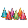 Party Accessories - Prismatic Party Hats - assorted colors
