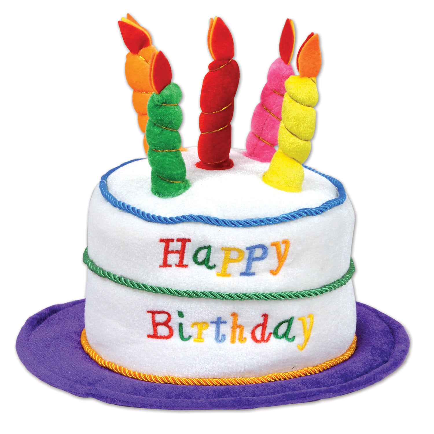 Plush Birthday Cake Hat Party Supplies Decorations The Beistle Company