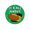 Football Party Supplies: It's All About Football Button