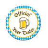 Official Beer Tester Button - Oktoberfest Party Supplies