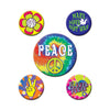 60's Party Buttons - assorted designs