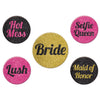 Beistle Team Bride Party Buttons (12 packs) - Bachelorette Party Supplies