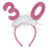 Birthday Party - ''30'' Glittered Boppers with Marabou